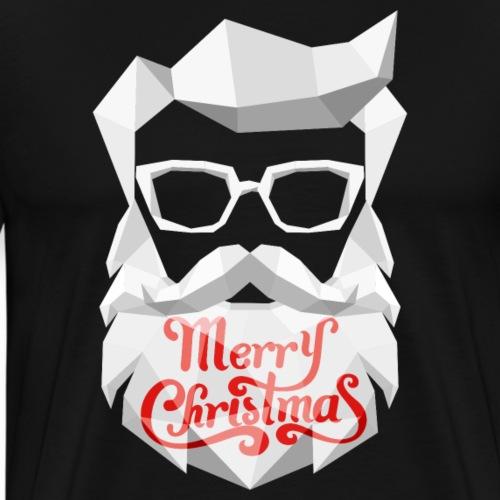 Trendy-Santa-Claus Merry Christmas - Männer Premium T-Shirt