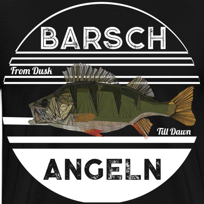 Poly Barsch Weiß Retro Angeln Fishing Fishyworm