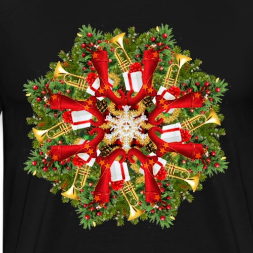 Traditional Christmas Mandala - Men's Premium T-Shirt