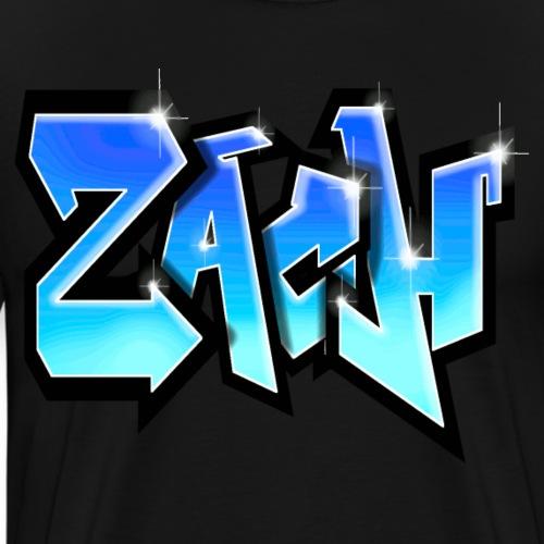 ZACH GRAFFITI TAG PRINTABLE BY MAX LE TAGUEUR - T-shirt Premium Homme