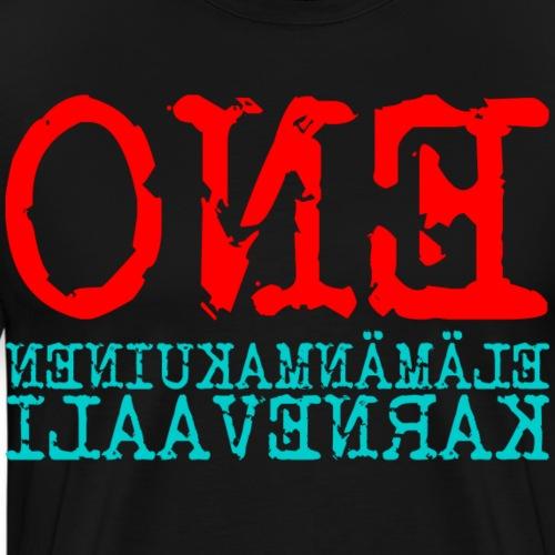 Elämänmakuinen karnevaali - Miesten premium t-paita