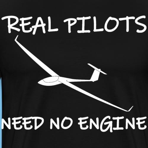 Segelflieger Motor lustiger Spruch Geschenkidee - Männer Premium T-Shirt