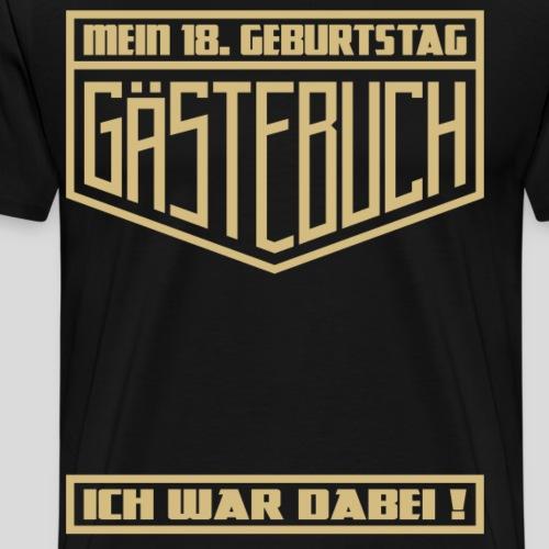 18. Geburtstag Party Gästebuch Geschenk Shirt - Männer Premium T-Shirt