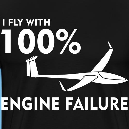 Motor Segelflugzeug lustig gleiten Segelflieger - Männer Premium T-Shirt