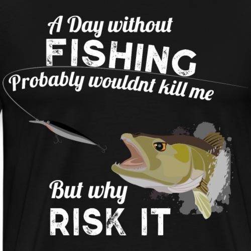 Zanderattacke Fishyworm Angel Fisch Zander A Day - Männer Premium T-Shirt