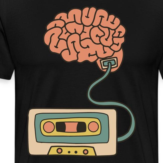 Musikkassette am Gehirn