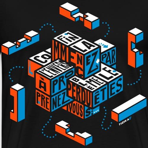 Casse-tête typographique - T-shirt Premium Homme