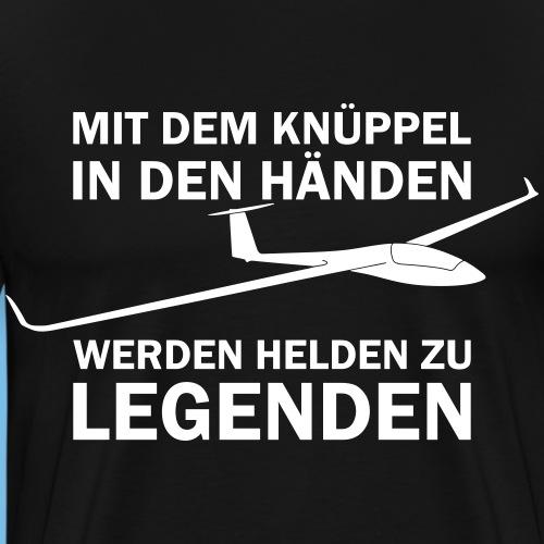 Lustiger Spruch Segelflugzeug fliegen Segelflieger - Männer Premium T-Shirt