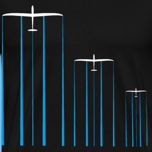 Segelflugzeug Wasser Segelflieger gleiten Pilot - Männer Premium T-Shirt