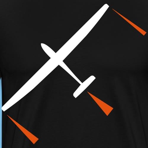 Segelflugzeug gleiten Geschenk Pilot Segelflieger - Männer Premium T-Shirt