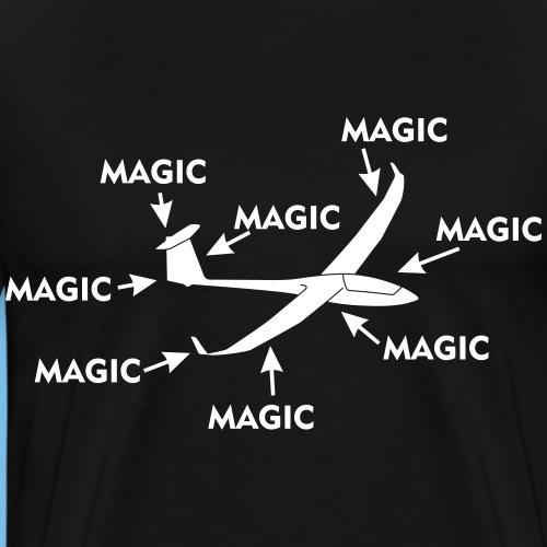 Magie Segelflugzeug Segelflieger gleiten Geschenk - Männer Premium T-Shirt