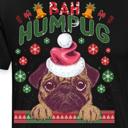Horrible pullover de Navidad Pug o Bulldog francés - Camiseta premium hombre
