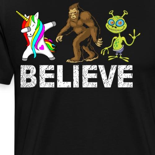 Quiero Crees En Extraterrestres y Cosas Fantástica - Camiseta premium hombre