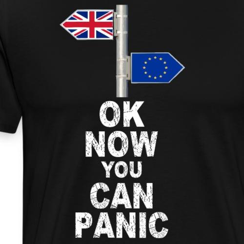 Pánico al Brexit Ruptura de Reino Unido con Europa - Camiseta premium hombre