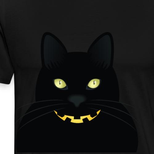 Diseño Gato Negro de la Mala Suerte de Halloween - Camiseta premium hombre