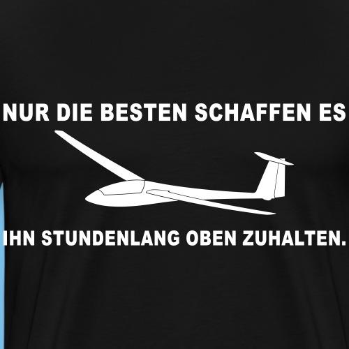 Oben Segelflieger lustig Segelflugzeug gleiten - Männer Premium T-Shirt