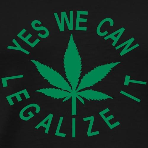 hanfblatt yes we can legalize it - Männer Premium T-Shirt
