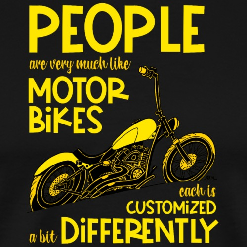 0798 people are very much like motorbikes - Mannen Premium T-shirt