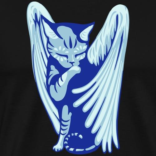 Angel Cat - Mannen Premium T-shirt