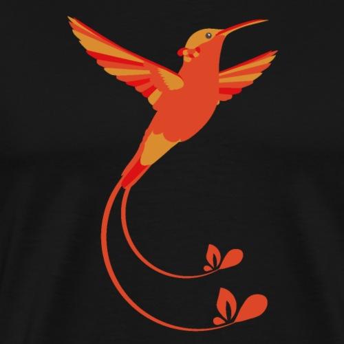 Feuer Farben Kolibri - Männer Premium T-Shirt