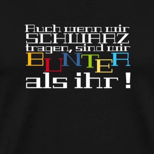 Dunkelbunt - Männer Premium T-Shirt
