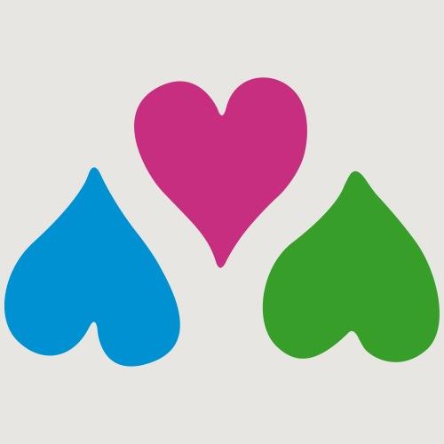 Triple hearts - Männer Premium T-Shirt