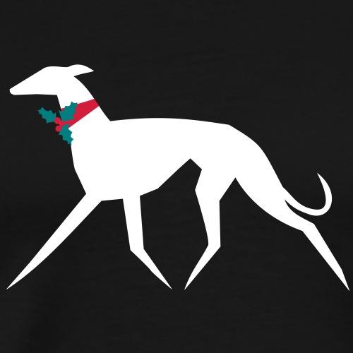 Weihnachtswindhund - Männer Premium T-Shirt