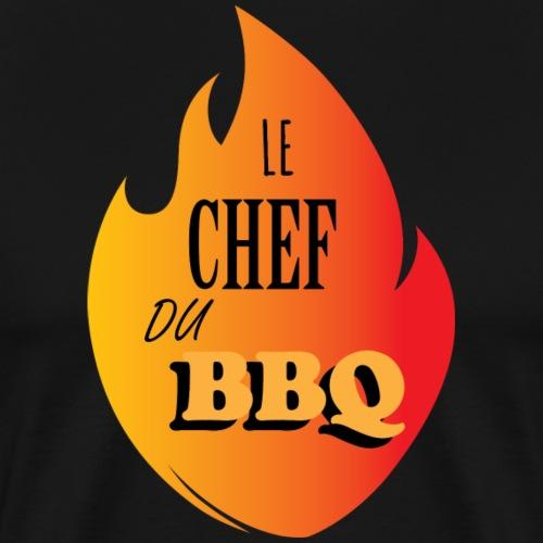 chef BBQ en couleur - T-shirt Premium Homme
