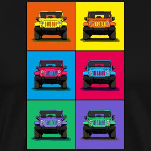 US Geländewagen Ikone cooles Retro Design - Männer Premium T-Shirt