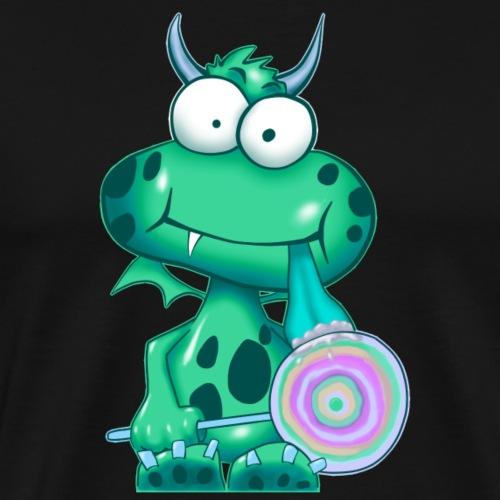 Grünes Monster mit Lolli - Männer Premium T-Shirt