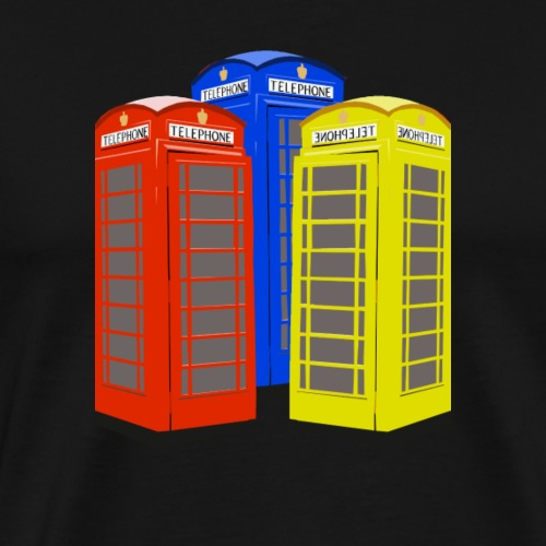 London Phoneboxes - Men's Premium T-Shirt