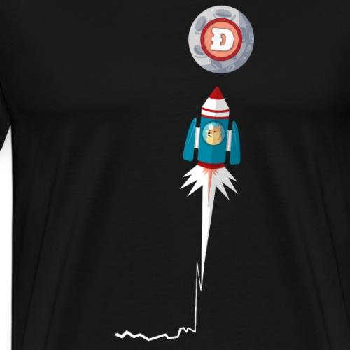 Dogecoin To the moon Krypto Stock Chart 2021 - Männer Premium T-Shirt
