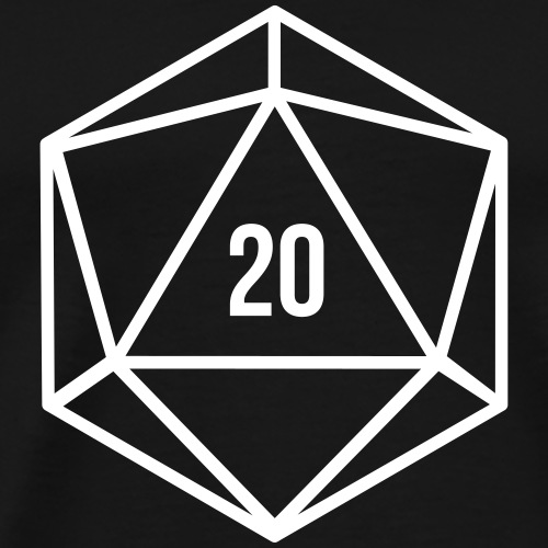 Würfel D20 Critical 20 - Men's Premium T-Shirt
