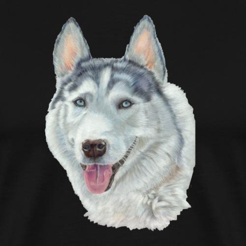 siberian husky_blueeyes - Herre premium T-shirt