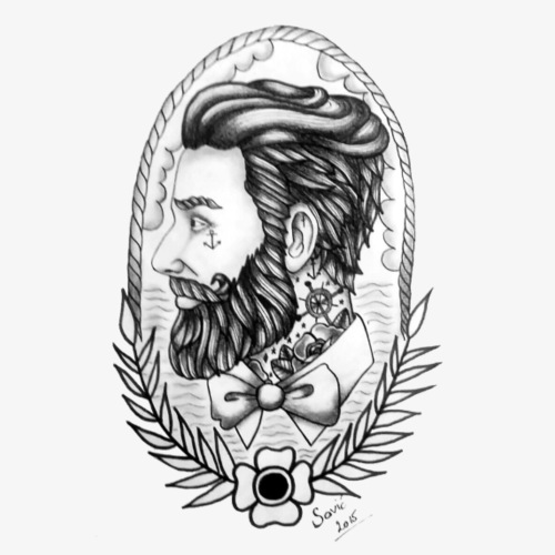 Bearded Men, Savic´, Rock Fashion - Männer Premium T-Shirt