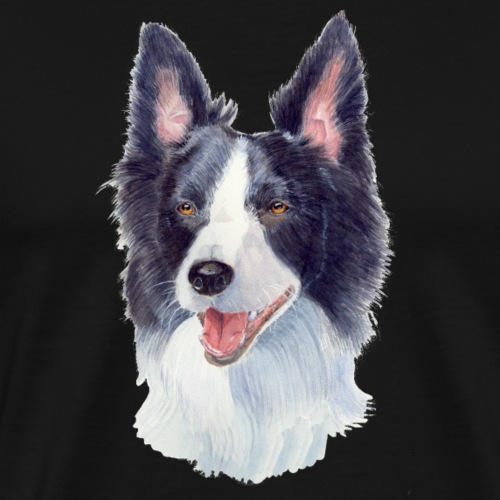 border collie akv 1 - Herre premium T-shirt