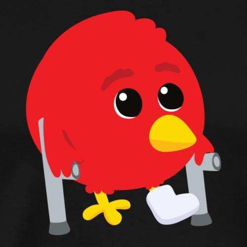 Oiseau rouge blessé - T-shirt Premium Homme