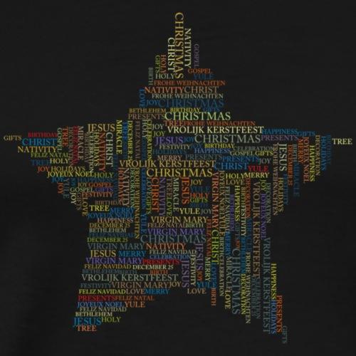Gwiazda Świąteczna MerryChristmas - Koszulka męska Premium