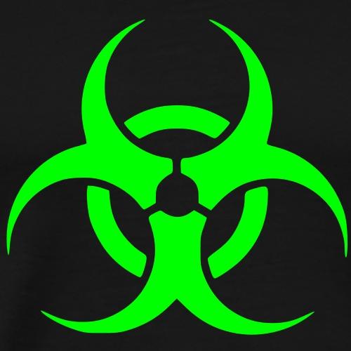 Biohazard Symbol Toxic Giftig Gefahr Danger Logo - Männer Premium T-Shirt