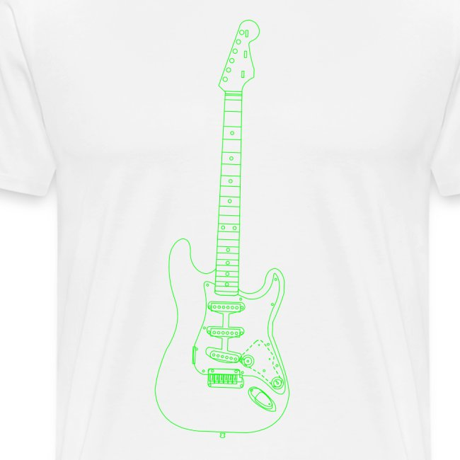Electric Guitar Wireframe