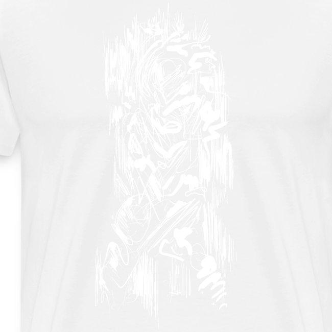 Samurai / White - Abstract Tatoo