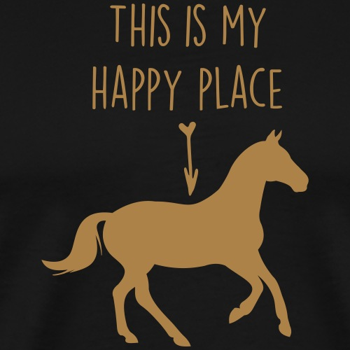happy place horse - Men's Premium T-Shirt