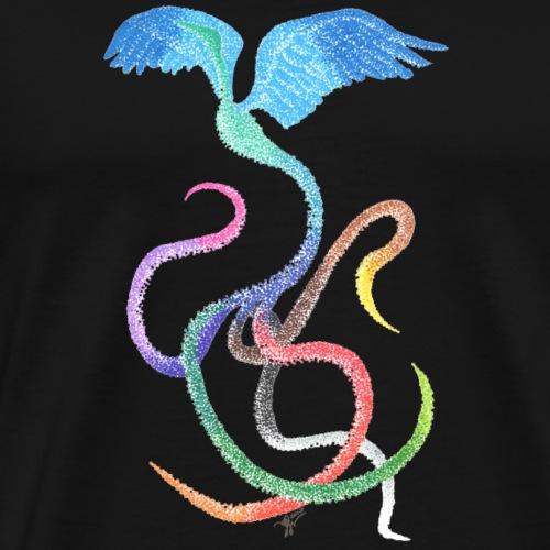Gracieux - Oiseau arc-en-ciel à l'encre - T-shirt Premium Homme