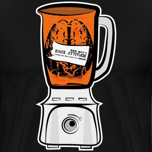 Hirn in Mixer neon orange - Männer Premium T-Shirt