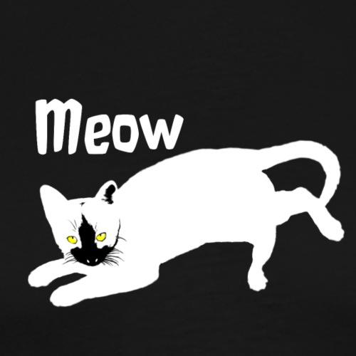 böse weisse Katze Kätzchen Kater - Männer Premium T-Shirt