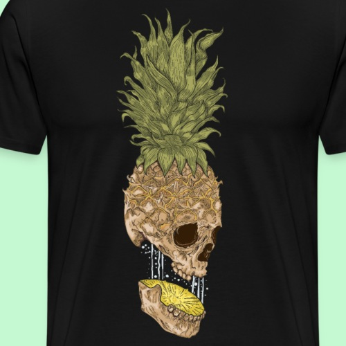 calavera piña - Camiseta premium hombre
