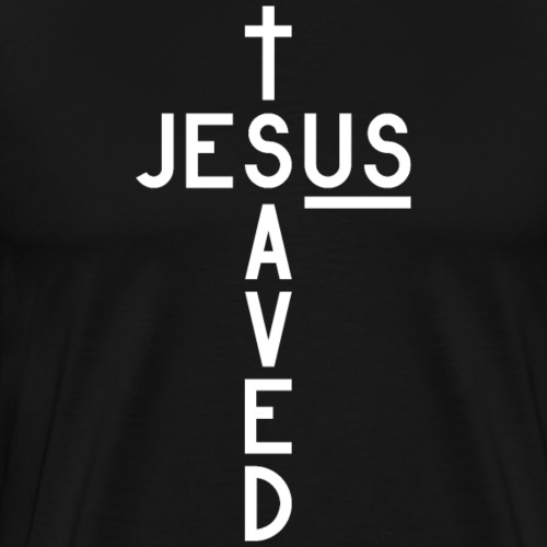 Jesus Saved Us - Männer Premium T-Shirt