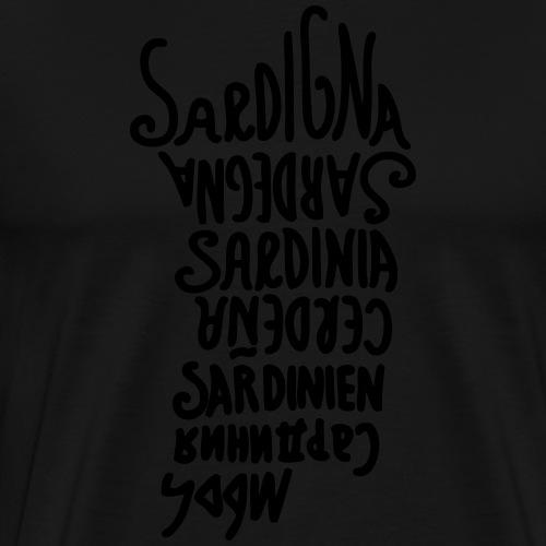 Sardegna, Lingue del mondo - Maglietta Premium da uomo