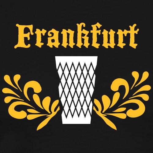 Stadt Frankfurt Geripptes - Männer Premium T-Shirt