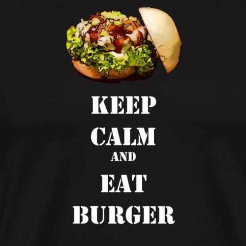 Keep calm and eat burger - Männer Premium T-Shirt